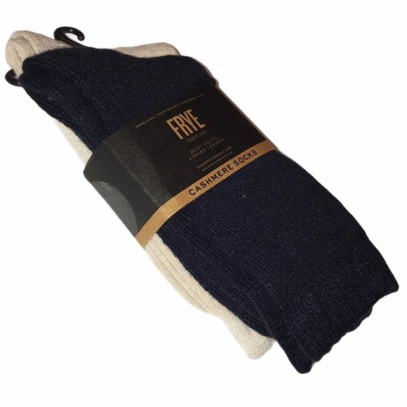 Two Pairs of Frye Women's Cashmere Boot Socks